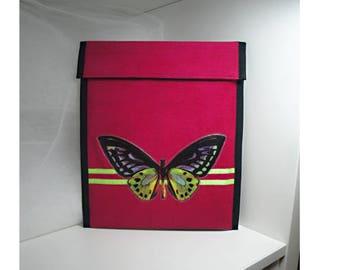 Ribbed fuchsia velvet Tablet cover