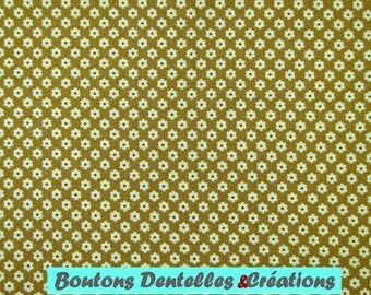 Moda fabric - Brown - stylized flower pattern