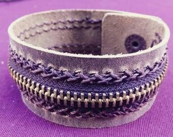 Original Leather bracelet with zipper