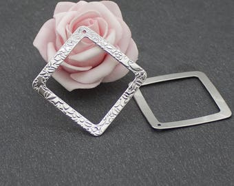 1 diamond pendant 37 mm BR550 stainless steel