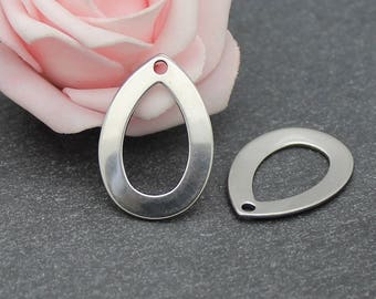 4 charms drop 18 x 27 mm BR597 stainless steel