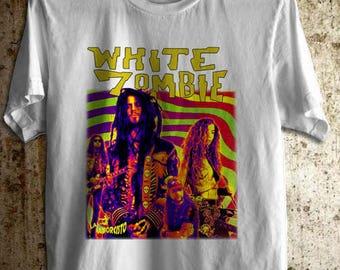 Rob Zombie White Zombie  White foto Band T-Shirt