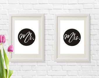 Black and white wedding gift, Newly married gift, Newly married prints, Modern wedding gift idea, Last minute wedding gift, Modern prints