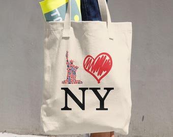 I Love New York Heart NY Cotton Tote Bag