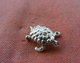 F) Vintage Sterling Silver Charm Tortoise or Turtle