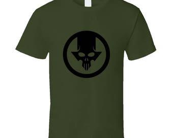 Blacklight Skull Olive Drab T-Shirt