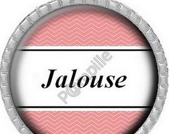 Cabochon pendant - jealous (754)