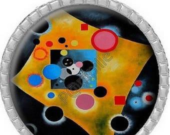 Pendant Cabochon - Kandinsky painting - (706)