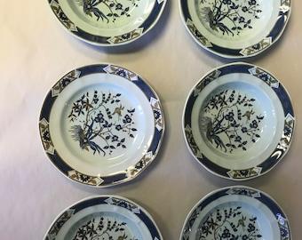 Set of 6 pc. Calyx Ware Ming Toa Adams English Ironstone Dishes