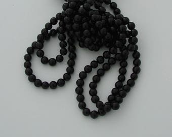 10 pearls 8mm black jade