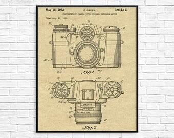 Camera Patent Poster, Camera Patent, Camera Print, Camera Wall Art, Camera Decor, Camera Blueprint, Camera Art, Photographer Gift