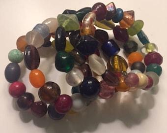 Indian Glass Wrap Bracelet
