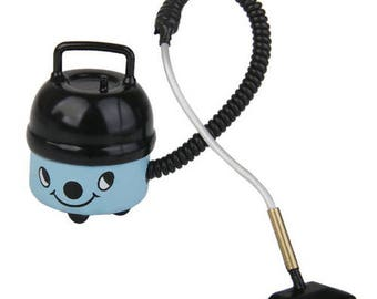 1/12 Dollhouse Miniature Accessory Vacuum Cleaner Black and Blue