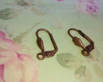 1 pair of stud earrings in metal color copper
