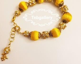 Silk thread trendy bracelet