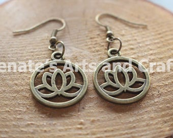 Elegant lotus earrings