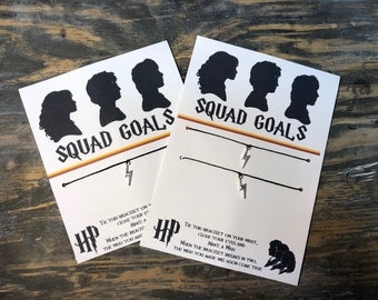 Squad goals wish bracelet.Harry Potter squad goals.Harry Potter jewelry.Harry potter bracelet.Best friends squad bracelet.Friendship bracele
