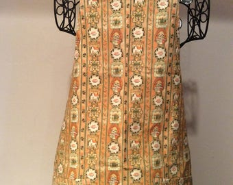 Full Apron CIAO BELLA TUSCANY  (Peach, Green and Rust)