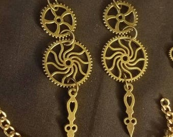 Clock Gear Steampunk Earrings