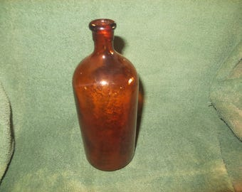 vintage brown amber glass clorox bottle old