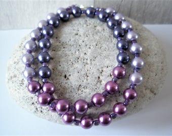 Purple-Lilac Ombre Necklace