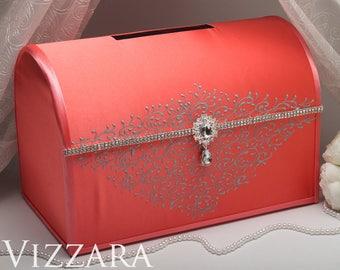 Card box coral grey | Etsy