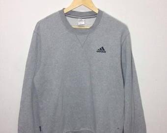 Vintage Sweatshirts Adidas Small Logo Crewkneek Grey Colour XL Size
