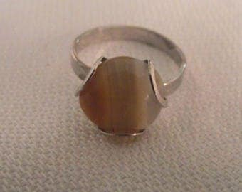 Vintage Tigers Eye? adjustable ring