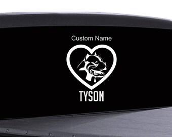 Pitbull Car Decal, walls, windows, stickers, cars boats trucks custom name