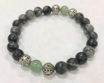 Yogi Stack Bracelet in Adventurine & Agate