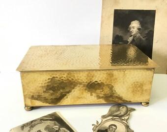 Antique  WMF Hammered brass  cigar box