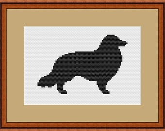 Сollie cross stitch pattern dog Silhouette Easy cross stitch chart Modern cross stitch pattern beginner Xstitch pattern modern