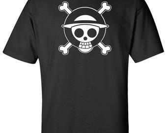 One Piece Skull Logo Adult/Youth Sz:S-2XL