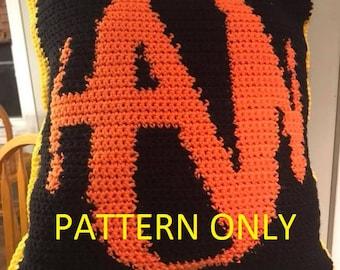 PATTERN ONLY Crochet Hanson Throw Pillow