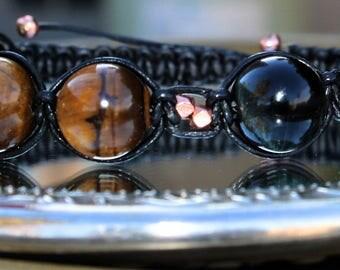 Tiger eye men's bracelet