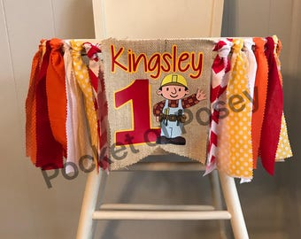 Bob the Builder High Chair Banner Party