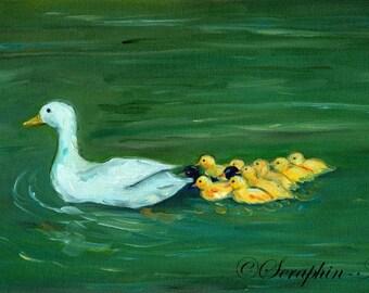 Wildlife Duck Original Oil Painting