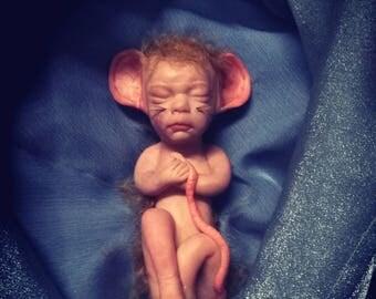 Ooak baby rat by artist Kiate