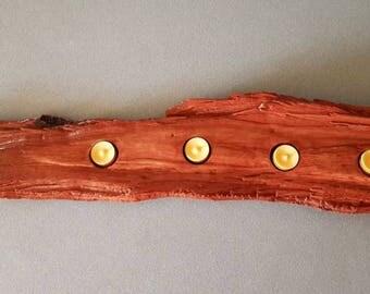 Large Rustic wooden tea light holder.