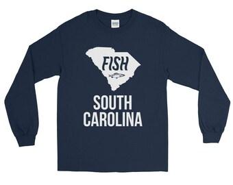 Fish South Carolina Fishing T-Shirt - Long Sleeve