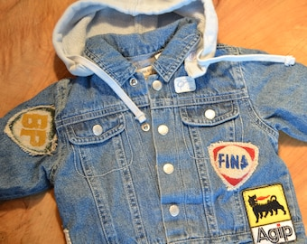 Denim jacket with patches - 3 months