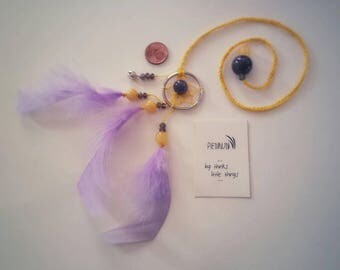 Yellow and Lilac Bookmark