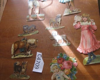 Vintage lot of Die Cuts / Embellishments  [c4709o]