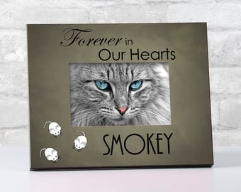 Personalized Cat Loss Memorial Frame, Pet Remembrance Frame, Gift for Pet Loss, Memorial for Loss of Pet Frame, Pet Memorial Frame, Dog Loss