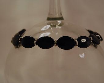 Black Oval Bracelet