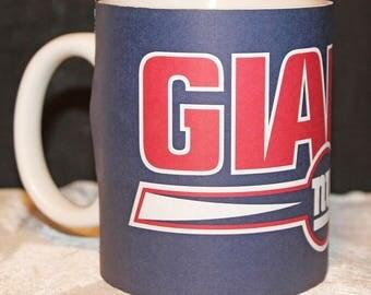 NY Giants Full Wrap Blue MUG