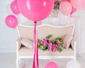 """Hot Pink Jumbo Balloon - 36"""" Giant Balloon - Jumbo Balloon"""