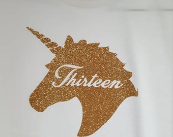Unicorn 13th Birthday Shirt
