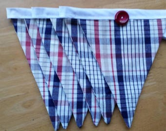 Checked bunting