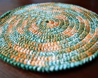 Crochet Pot Holder, Crochet Potholder, Hot Pad, Oven Mitt, Pot Stand, Coaster, Kitchen Cookware, Home Decor, Baking, 100% Cotton, Yarn, Gift